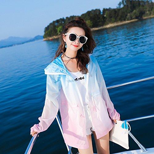ZAYPJ Cappotto C Xl XRXY Colore sottile Cappotto anti disponibili anti UV colori B moda 4 femminile traspirante UV dimensioni wrw0qS4Z