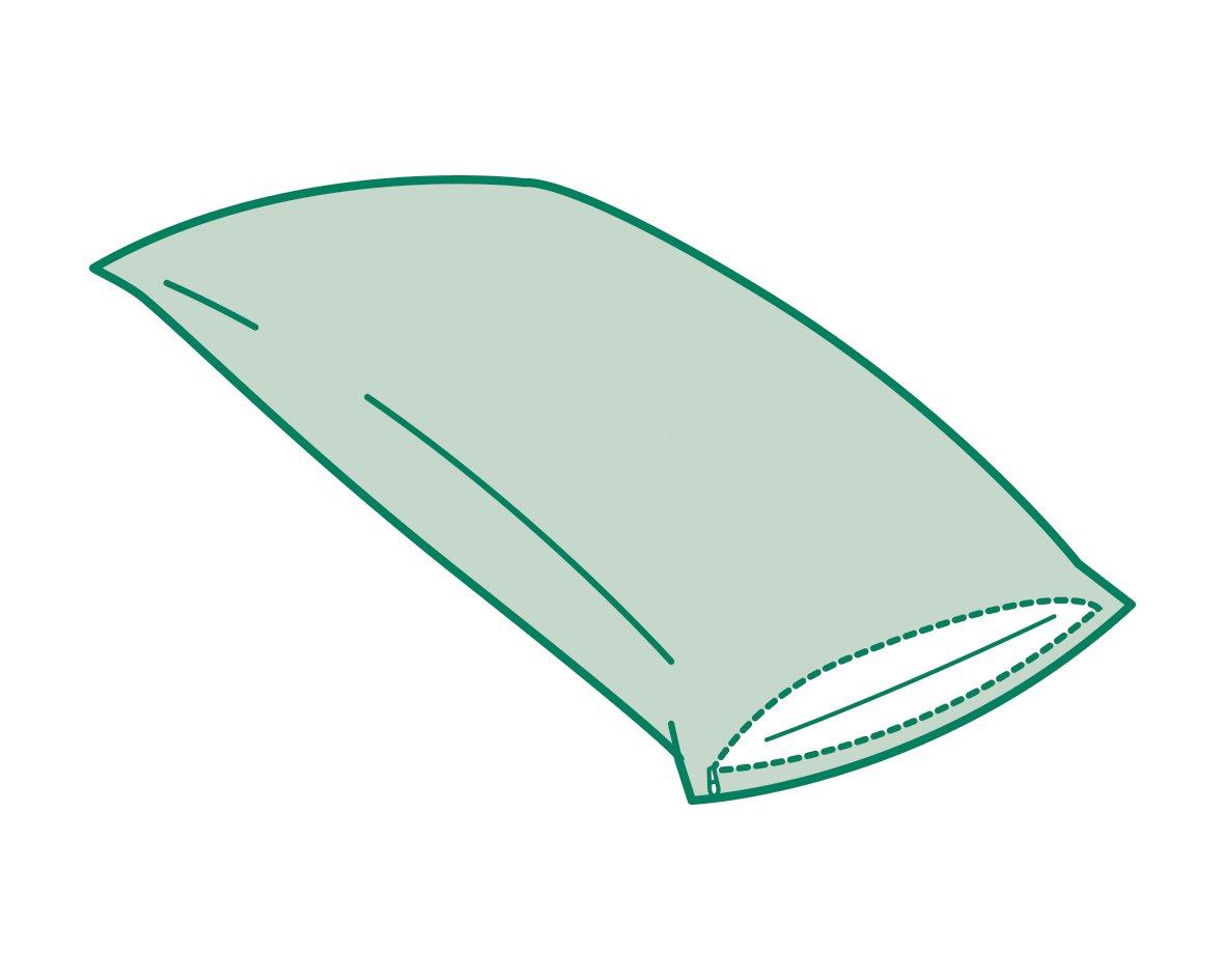 Savel - Funda de Almohada Impermeable de Algodón, con Cremallera   40 x 90 cm   Protector de Almohada con tejido de Rizo 100% algodon transpirable.