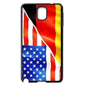 Cheap phone case, USA mixed Germany flag pattern for black plastic Iphone 5/5S
