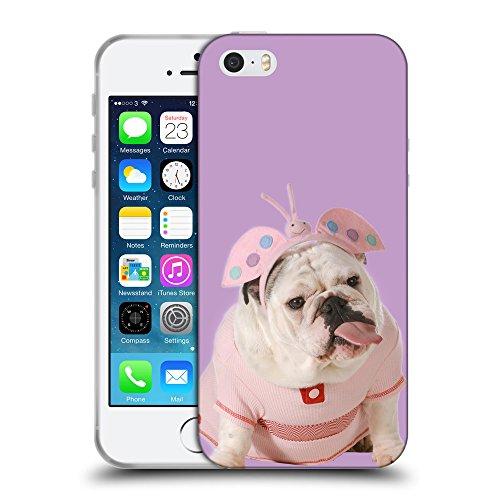 GoGoMobile Coque de Protection TPU Silicone Case pour // Q05800617 Bulldog anglais Ube luminoso // Apple iPhone 5 5S 5G SE
