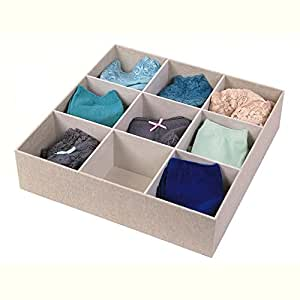 ... Closet Storage  sc 1 st  Amazon.com & Amazon.com: 9 Compartment Sock Drawer Organizer: Home u0026 Kitchen