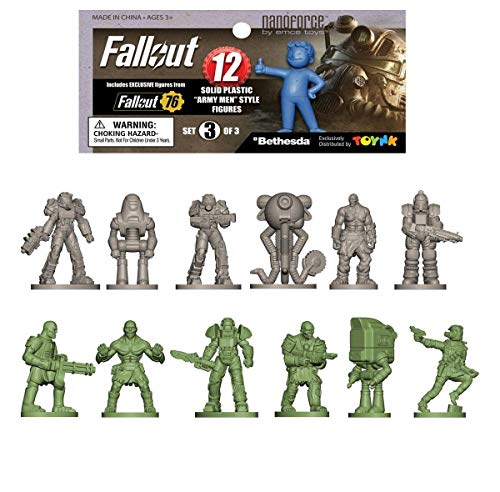 Fallout Nanoforce Series 1 Army Builder Figure Collection - Bagged Set 3 | Vault Boy | Nuka Cola | Special Edition Collectible Gaming Figures | (Fallout 4 Power Armor For New Vegas)