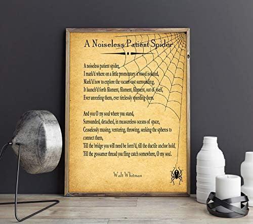 Walt Whitman - Poema de araña para Pacientes sin Ruido, Pergamino ...