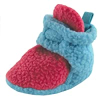 Scooties Fleece Booties by Luvable Friends, Teal, Newborn