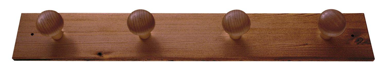 Legno Noce 52x6x6.8 cm Valdomo 134//12 Appendiabiti a Muro