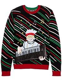 Blizzard Bay Men's Lumberjack Santa Ugly Christmas Sweater