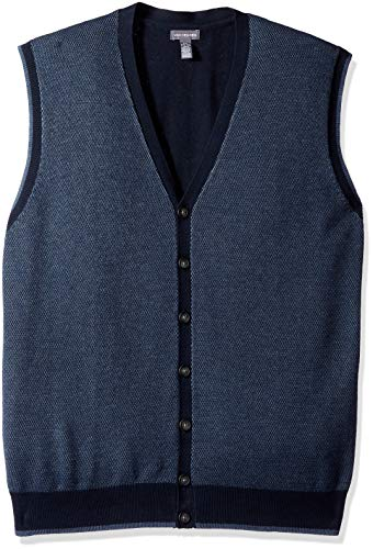 Van Heusen Mens Big and Tall Button Front Sweater Vest