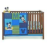 Disney Baby Infant Boy's 4 Piece Mickey Mouse Crib Bedding Set