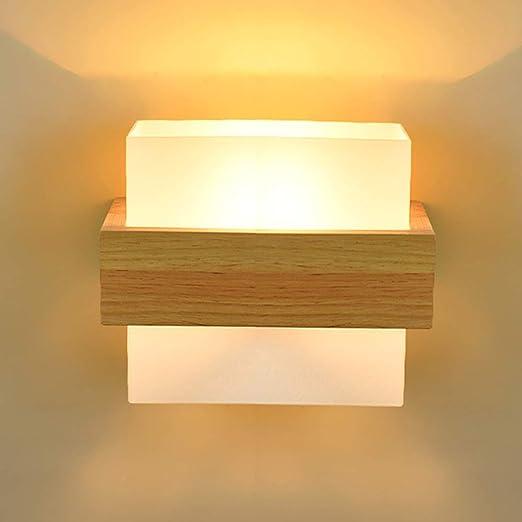 Lámpara de pared de diseño en madera Pantalla E27 Luces de subida y bajadas Iluminación interior Se puede usar como lámpara de pie/lámpara de noche/lámpara de espejo/escalera: Amazon.es: Hogar