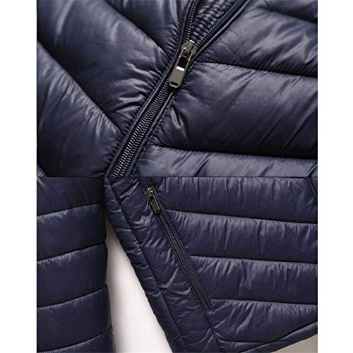 Jacket Solid Long Collar Schwarz Stand Sleeve Cotton Men's Slim Stand Clásico Down Wear Good Pocket Zip Friendgg Parka Warm Winter Boy Fashion Coat Men's Ntel qqZUFA
