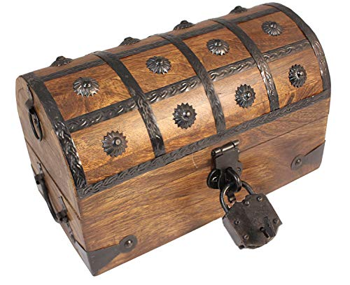 Well Pack Box Large Medium Pirate Treasure Chest Box with Lock and -
