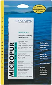 Katadyn Micropur MP1 Purification Tablets (20 Tablets)