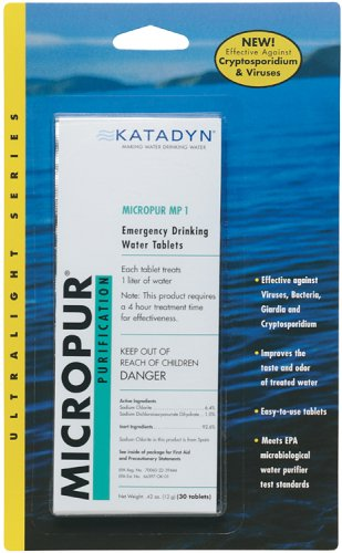 Katadyn Micropur MP1 Water Purification Tablets (30 Count) ()