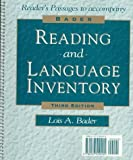 img - for Bader Reading and Language Inventory with Booklet (Graded Reading Passages) Pkg. book / textbook / text book