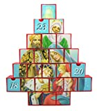 3 Kings Wise men Nativity Advent Calendar with Drawers, 10 Inch (H)