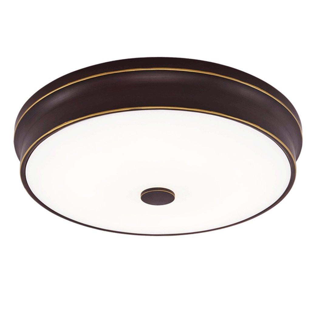American Iron LED Deckenleuchte, Glass Shade Deckenleuchte - Einfache warme Schlafzimmer Esszimmer Gang Deckenleuchte