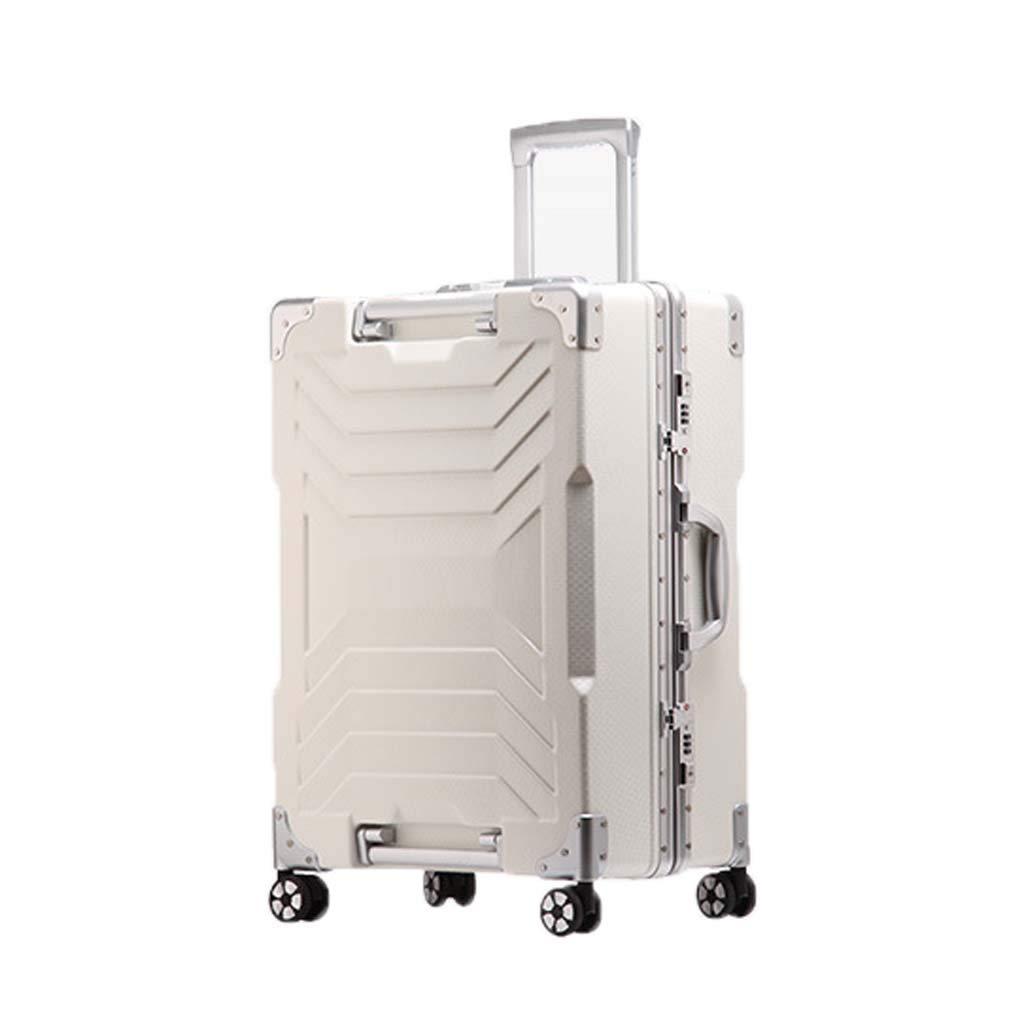 Color : White, Size : 28 inches CLOUD Luggage Sets Travel Suitcase Male and Female Lightweight ABS Air Carrier Trolley Case Lock 4 Wheels