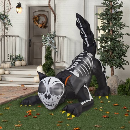 Gemmy Airblown Inflatable 6' X 6' Animated Wicked Cat Halloween Decoration -