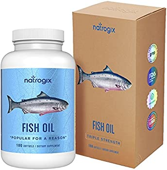 Natrogix Omega 3 Fish Oil 3000 mg /Serving, 180 Softgels