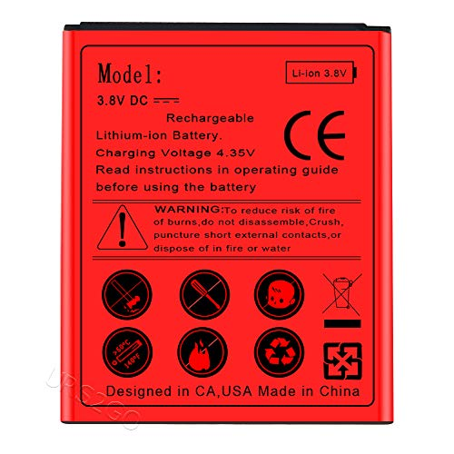 Long Lasting 1800mAh 3.8V Extra Standard Replacement Battery for Samsung Galaxy Stardust SM-S766C Smartphone -  SodaPop