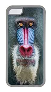 TYH - Big Face Mandrill Baboon Custom iPhone 5/5s Case Cover TPU Transparent ending phone case
