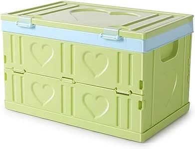 EXTSUD Caja de Almacenamiento Plegable Caja Plastico Almacenaje Grande Caja Plegable Plastico Duradero Coche para Guardar Cosas, 30L, 42 x 27.5 x 26cm: Amazon.es: Hogar