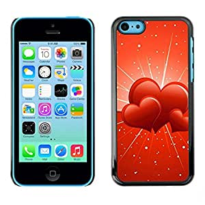 Slim Protector Shell Hard Case Cover for Apple Iphone 5C Three hearts / STRONG