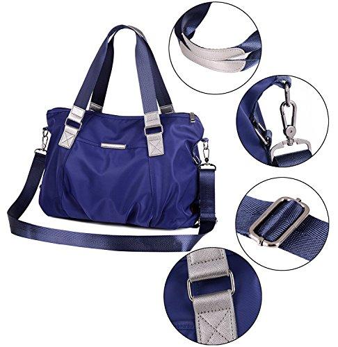 Vincico - Bolso al hombro de nailon para mujer azul azul Azul