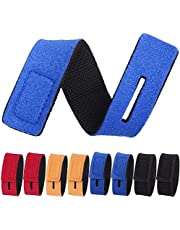 Fishing Rod Holders Belts, 6 Pcs 2*20cm Adjustable Fishing Rod Tie Strap for Fly Rods Telescopic Fishing Tackle Accessories Fixing Strap Ropes