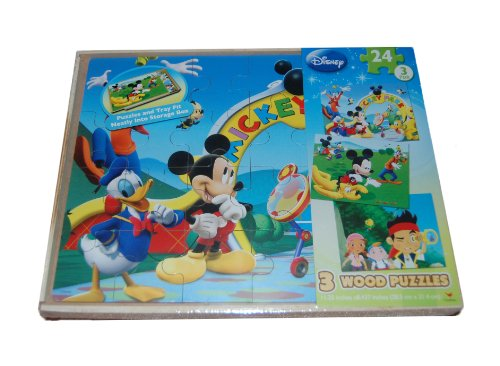 Disney Mickey Mouse and Friends 3-Pack Wooden Puzzles