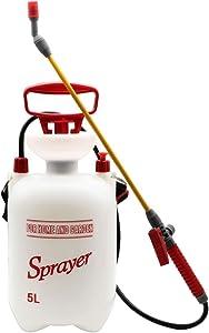 Flesser Pump Pressure Sprayer 1.3-Gallon Pressure Sprayer with Shoulder Strap for Herbicides,Fertilizers,Mild Cleaning Solutions and Bleach (1.3 Gallon)