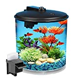 KollerCraft Aquarius AquaView 360 Aquarium Kit with LED Light, 2-Gallon