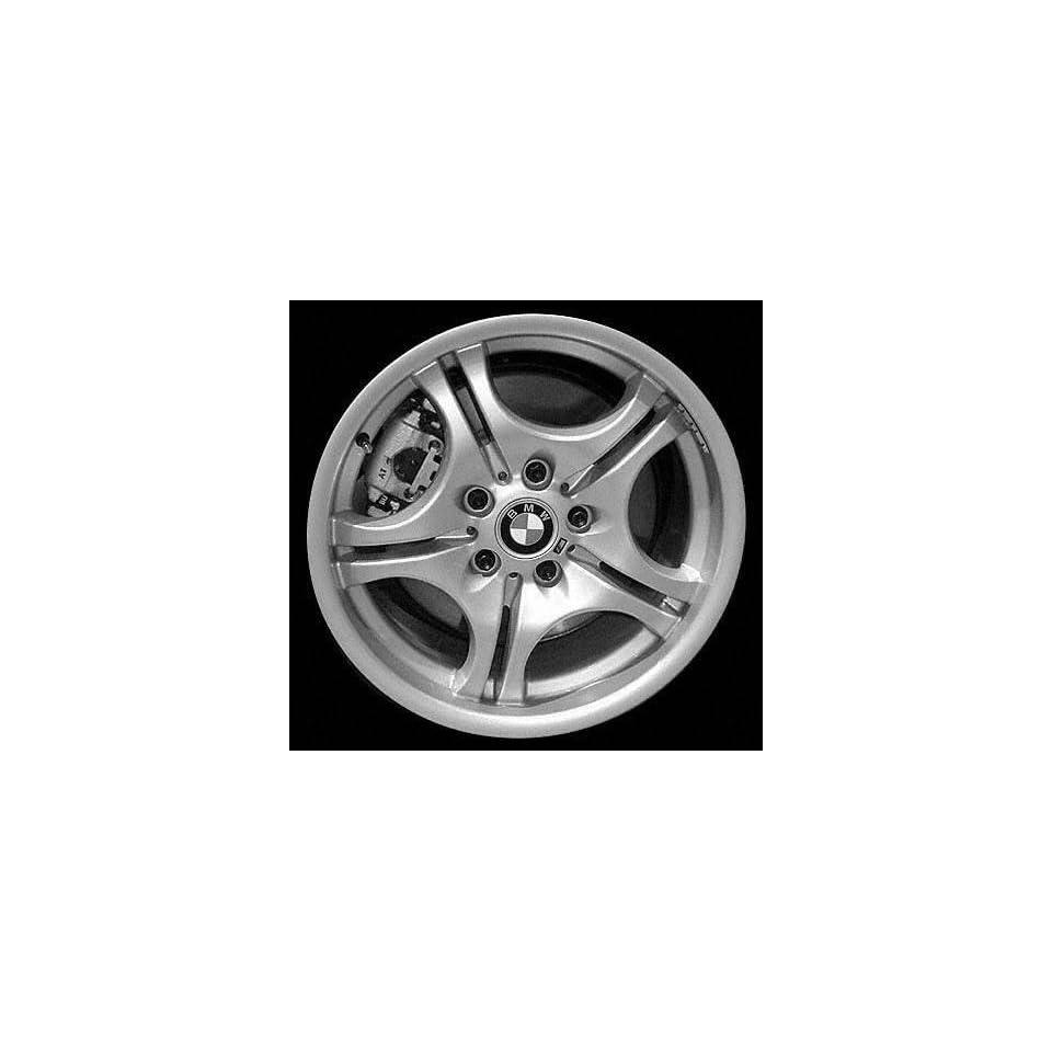 01 02 BMW 330I 330 i ALLOY WHEEL RIM 17 INCH, Diameter 17, Width 8.5 (5 DOUBLE SPOKE), 50mm offset Style #68 M spoke design, SILVER, 1 Piece Only, Remanufactured (2001 01 2002 02) ALY59345U10