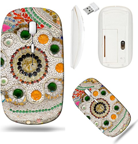Liili Wireless Mouse White Base Travel 2.4G Wireless Mice with USB Receiver, Click with 1000 DPI for notebook, pc, laptop, computer, mac book IMAGE ID 33510426 Wall Background Decorated with - Porcelain Deco