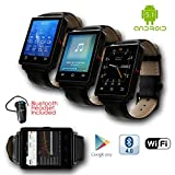 Indigi GSM UNLOCKED! Stylish Android 5.1 Smart Watch Phone GSM 3G+WiFi GPS + Heart Rate + Temperature + Bluetooth Bundle