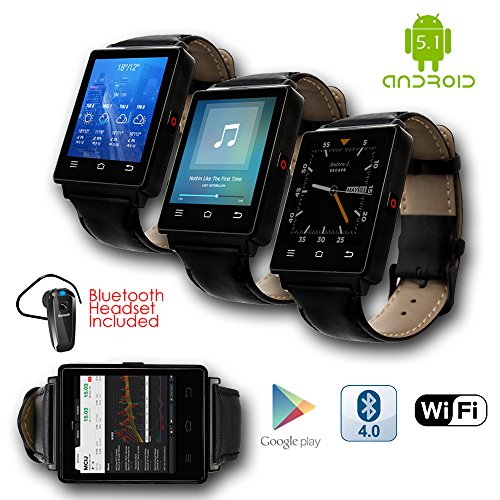 Indigi 2017 GSM UNLOCKED! Android 5.1 OS SmartPhone&Watch (3G + WiFi + Bluetooth 4.0 + Heart Rate Sensor) + Bluetooth bundle by inDigi
