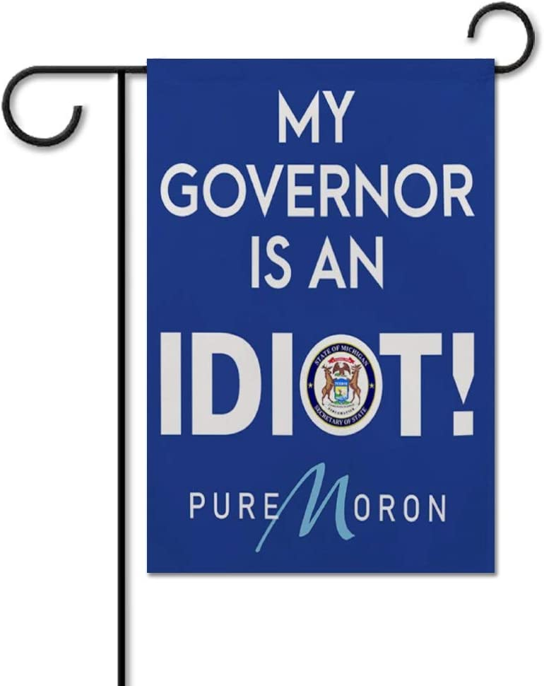 "My Governor is an Idiot Garden Flag Yard Decor Vertical Double Sided Custom Name Outside House Decoration Decal Welcome Flag Seasonal Banners for Patio Lawn Outdoor Home Decor 28""x40"""