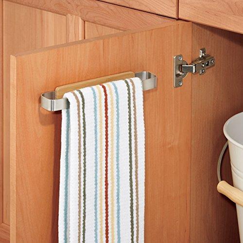 Kitchen Cabinet Towel Holder: Kitchen Towel Rail Cabinet Door Bar Holder Storage Steel