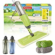 #LightningDeal MistDriver Floor Cleaning Spray Mop with 4 Extra Large Microfiber Pads and 2 High Capacity Bottles, Home or Commercial Use, Professional Dusting for Hardwood Laminate Tile Marble Floors by TWINRUN