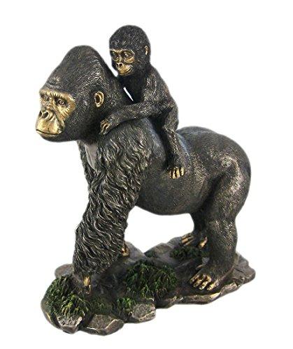 Gorilla Statue<br>H: 8 x W: 4.5 x L: 7 (inches)