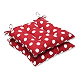 Cheap Pillow Perfect Indoor/Outdoor Red/White Polka Dot Tufted Seat Cushion, 2-Pack