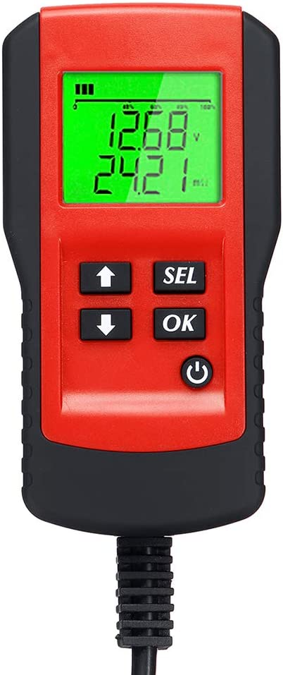 Digital 12V Car Battery Tester Load Test and Analyzer of Battery Life Percentage,Voltage Resistance and Deep Cycle Battery