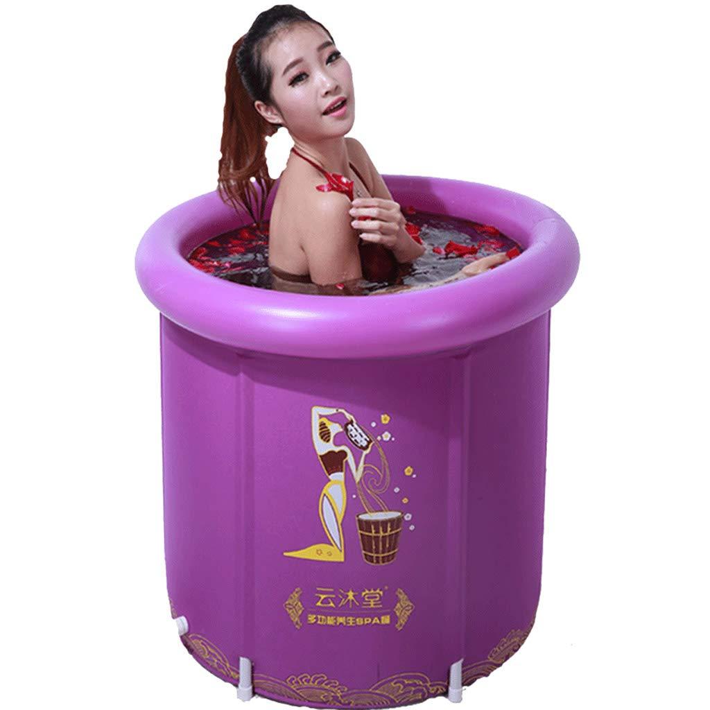 Lilongjiao Bañera para Adultos Bañera Plegable Piscina para niños Bañera al Vapor Bañera ahumada Bañera Bañera Piscina (púrpura)