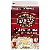 Idahoan Real Premium Mashed Potatoes, Made with Naturally Gluten-Free 100% Real Idaho Potatoes, 65 Servings Carton