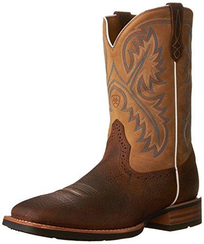 Ariat Men's Quickdraw Western Boot, Tumbled bark/Beige, 11 E US