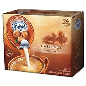 International Delight Coffee Creamer, Hazelnut, .44 oz Liquid, 24/Box