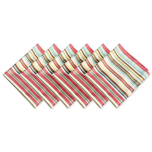 DII Cloth Napkins for  Everyday Place Settings, Family Gatherings, BBQ's, Holiday Parties, & Catering Events, Oversized & Stain Resistant for Indoor/Outdoor Use (20x20