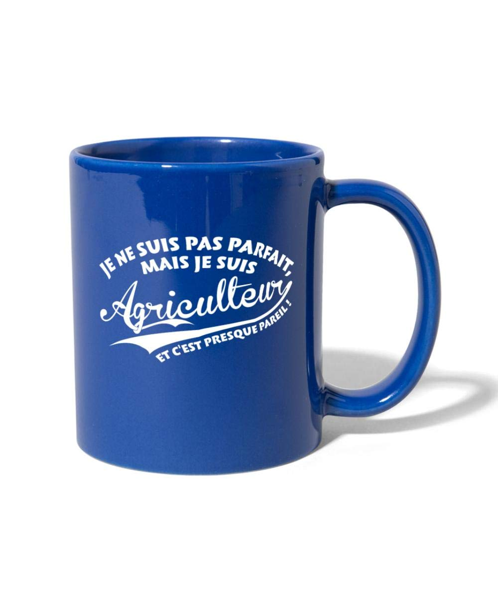 Spreadshirt Pas Parfait Mais Agriculteur Tasse Mug bleu royal