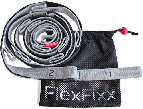 IMPROVE FLEXIBILITY with FlexStrap Premium Strap & User Guide - Best for Yoga Dance Fitness Physical Therapy Equipment