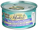 Fancy Feast Elegant Medleys for Cats, White Meat Chicken Primavera in a Classic Sauce with Garden Veggies and Greens, 3-Ounce Cans (Pack of 24), My Pet Supplies